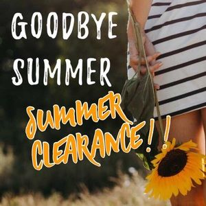 Look for 🌞summer clearance! Items